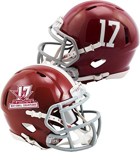 Authentic Mini Nfl Football Helmet - Sports Memorabilia Riddell Alabama Crimson Tide College Football Playoff 2017 National Champions Revolution Speed Mini Football Helmet - Fanatics Authentic Certified