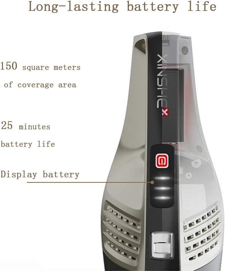 TSAR003 Aspirateur avec Smart Automatically, Aspirateur sans Fil 3in1 Aspirateur sans Fil À Manche 6KPa Aspiration Puissante pour Les Poils d\'animaux Black White