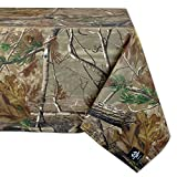 """DII, Real Tree Tablecloth, 100% Cotton, Machine Washable, 54x54"""", Green Camo"""