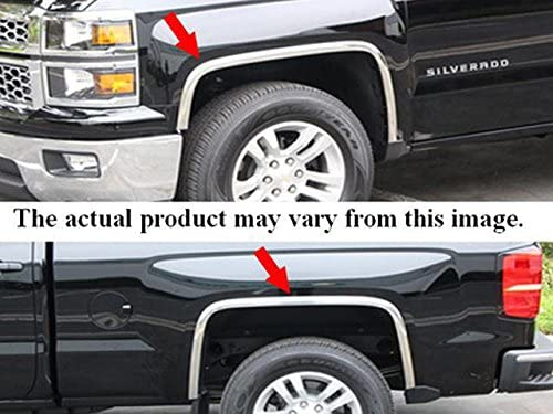 QAA fits 2004-2012 Chevrolet Colorado 4 Piece Molded Stainless Steel Wheel Well Fender Trim Molding, with Fender Flares 2004-2012 GMC Canyon WZ44150
