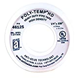 ANTI-SEIZE TECHNOLOGY 46125 White PTFE Poly-Temp Heavy Duty Tape, 520'' Length, 0.24'' Width (Pack of 5)
