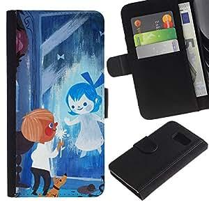 All Phone Most Case / Oferta Especial Cáscara Funda de cuero Monedero Cubierta de proteccion Caso / Wallet Case for Sony Xperia Z3 Compact // Blue Drawing Mother Mom Kids