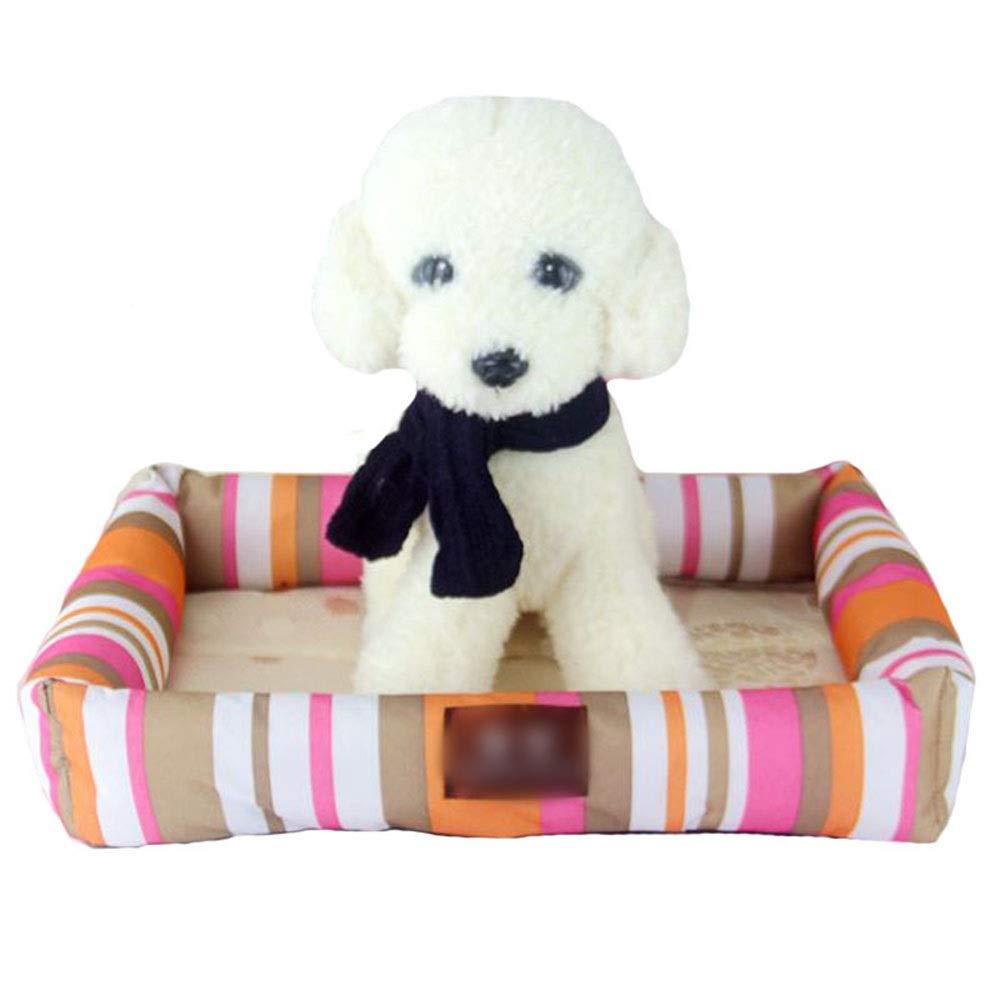 Jack's Us Small Shop Cool Pet Nest Bite-Proof Mat Dog Mat Cat Litter Pet Supplies Easy to Clean (Color : Color, Size : L)