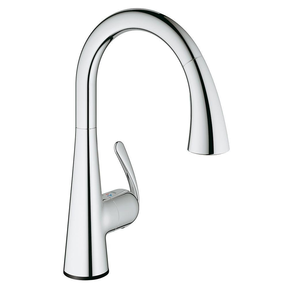 Ladylux³ Café Touch Single-Handle Pull-Down Kitchen Faucet