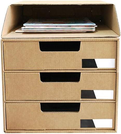 L.P Caja de Almacenamiento de Escritorio de Papel Kraft de 3 ...