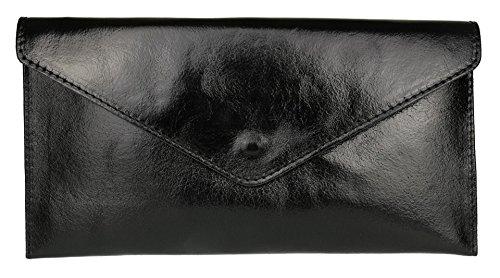 Girly Handbags Rebecca, Sac noir métallique