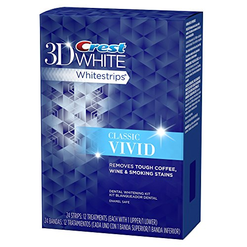 Crest 3D White Whitestrips Classic Vivid Teeth Whitening Kit, 12 Treatments - 24 Strips by Crest (Image #2)