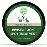 TreeActiv Invisible Acne Spot Treatment | All Natural | Goes On Clear | Works Under Makeup | Quickly Reduces Blemishes | Safe For Sensitive Skin