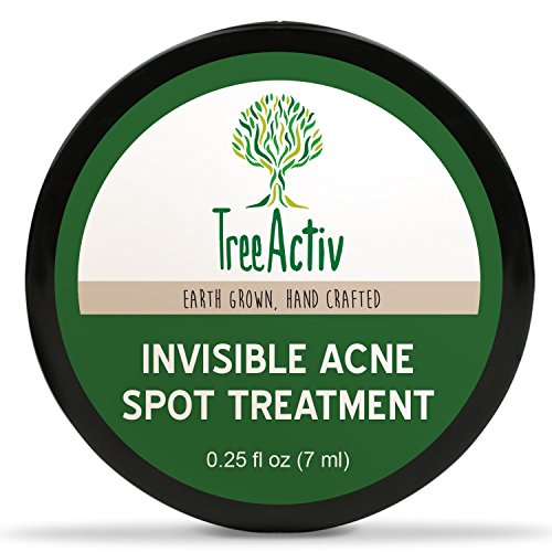 TreeActiv Invisible Acne Spot Treatment, Mess-Free Fast-Acting Formula, Works Under Makeup, Tea Tree, Peppermint Essential Oil, Lemon Essential Oil, Safe Acne Treatment For Sensitive Skin (0.25oz)