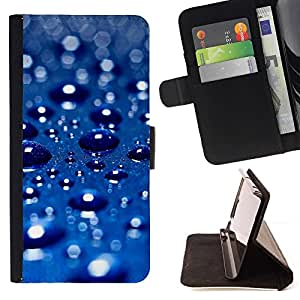Momo Phone Case / Flip Funda de Cuero Case Cover - Blue Water gota 3 - Huawei Ascend P8 Lite (Not for Normal P8)