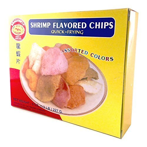 Shrimp Chips - Colored Snacks (to cook) - Quick Frying - Thailand
