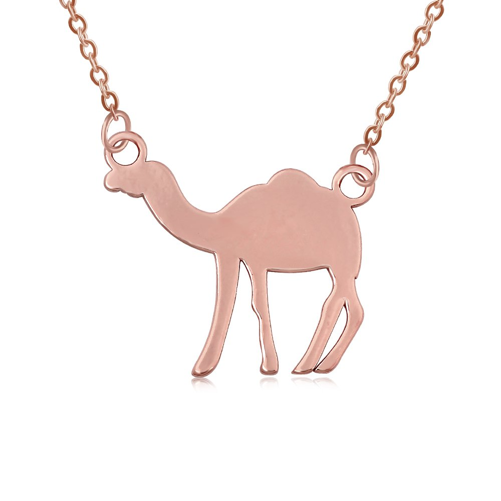 NOUMANDA Three Colors Copper Camel Pendant Necklace Simple Fashion Style Animal Necklaces