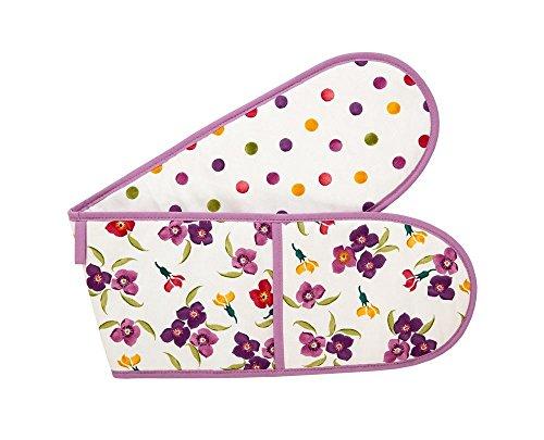 Emma Bridgewater Cotton Double Oven Glove Mitt Mitts Wallflower & Polka Dot ()