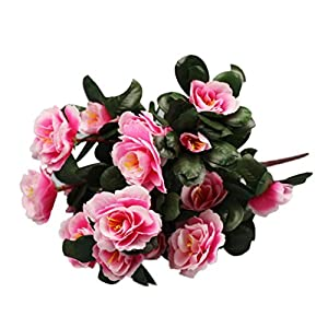 LNGRY Artificial Silk Fake Flowers Artificial Bouquet Simulation Of Azalea Safflower Home Party Wedding Decoration (Pink) 90