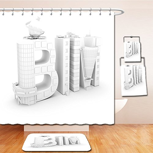Beshowereb Bath Suit: Showercurtain Bathrug Bathtowel Handtowel bim in the shopping center over white background d illustration - Center Shopping Washington Square