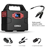Coolis 150Wh Portable Solar Power Inverter Generator, Power Source Power Supply with Silent 110V AC2 / 12V DC3 / USB2 Output, 40800mAh at 3.7V 12580mAh at 12V Lithium Polymer Battery