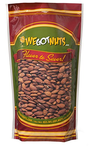 (We Got Nuts Roasted Unsalted Almonds 2 Lb Bag)