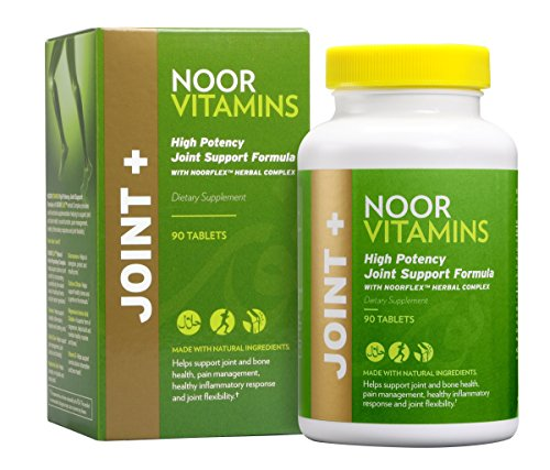 Bone Response 90 Tablets (NoorVitamins Joint Health Supplement - Halal Vitamins - High Potency Joint Support with 1500mg Glucosamine, Turmeric, Vitamin D and NOORFLEX Herbal Complex for Pain, Aches & Inflammation - 90 Tablets)