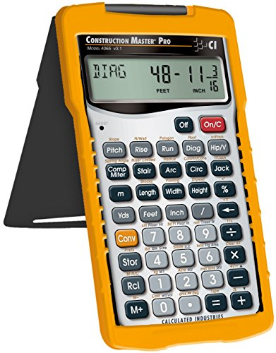 Calculated Industries 4065 Construction Master Pro Advanced Construction Math Feet-inch-Fraction Calculator for Contractors, Estimators, Builders, Framers, Remodelers, Renovators and Carpenters by Calculated Industries (Image #1)