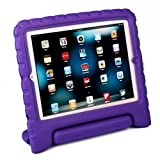 HDE Shock Proof iPad Case for Kids Bumper Cover Handle Stand for Apple iPad 2 iPad 3 iPad 4 (Purple)