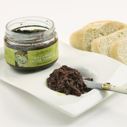 Divina - Kalamata Olive Spread - 8.5 Ounce - Greek Black Olives