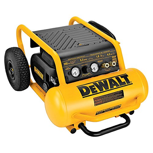 Dewalt D55146 1.6 Hp Continuous 200 Psi, 4.5 Gallon Compressor, 17 inch x 33.75 inch x 24.5 inch