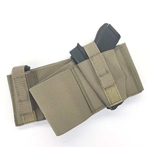 Daltech-Force-Safestcarry-Belly-Band-Gun-Holster-with-extra-Mag-Holster-CCW-Concealed-Carry-Gun-Holster-for-Hips-Waist-or-Chest-Military-Green