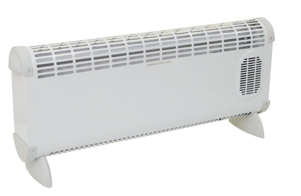 2.5KW Low Level Convector Heater with Adjustable Thermostat and Turbo Fan