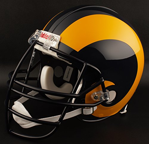 (Riddell ST Louis RAMS 1995-1999 NFL Replica Throwback Football Helmet w/NJOP Facemask)