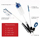 StarPack Premium Bottle Brush Set of 4 - Includes Long Water Bottle Brush, Beer/Baby Bottle Brush, Straw Cleaning Brush & Detail Cleaning Brush
