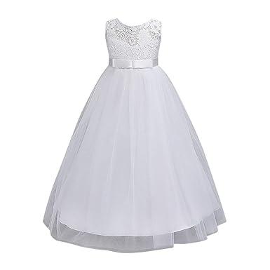 89a3e461641e8 Longra Robe De Soirée Filles Princesse Pour Enfant Fleur Fille Princesse  Costume De Cérémonie Spectacle De