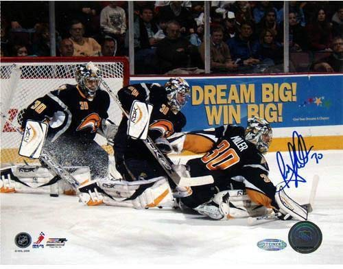 (Ryan Miller Multi Exposure Signed 8x10 Photo - Steiner Sports Certified - Autographed NHL Photos)