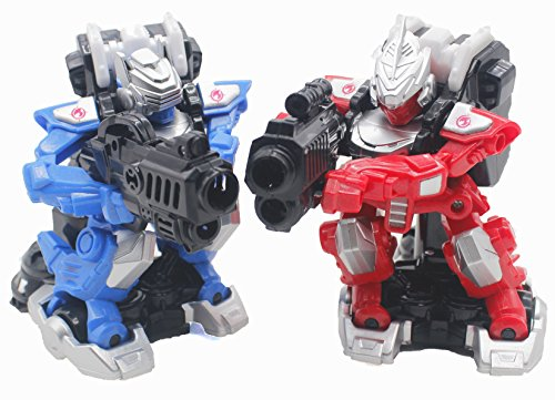 7TECH Remote Control Battle Robot Infrared Drift Intelligent Warrior With Light And Music-2 Packs in Blue&Red - Remote Control Battle Robot