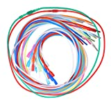 uGems 20 18-inch Silicone Rubber 2mm Tubing Cord Necklaces with Locking Clasps Asst Colors