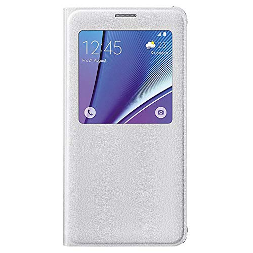 Samsung Galaxy Note 5 Case S-View Flip Cover (White)