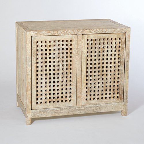 StudioA Driftwood Lattice 2-Door Cabinet, Oversized Item