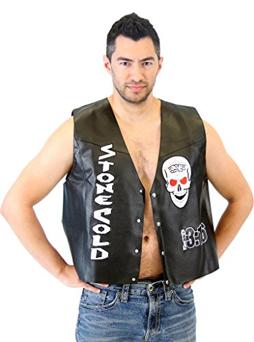 WWE Stone Cold Steve Austin 3:16 Smoking Skull Costume Leather Vest (Adult XXX-Large) by WWE