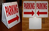1 Pc Immaculate Popular Parking Arrow Sign Retail Message Sandwich Board 2-Sided KitSize 18