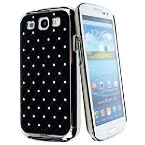kwmobile Stylish CHROME CASE with rhinestones and rubber for Samsung Galaxy S3 i9300 / S3 Neo i9301 in black silver