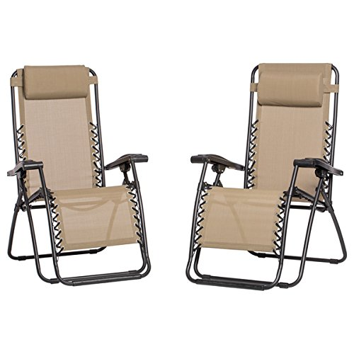 Caravan Canopy Beige Zero- Gravity Chairs  Ideal Chair for B