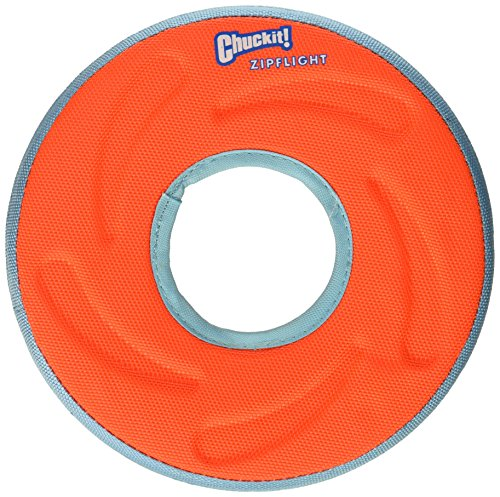 Chuckit 18100 Medium Chuckit! Zipflight Frisbee Dog Toy, Colors may - Amphibious Flying Ring