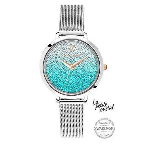 Pierre Lannier La Petite Swarovski Crystal Gradient Blue Milanese Steel Ladies Watch