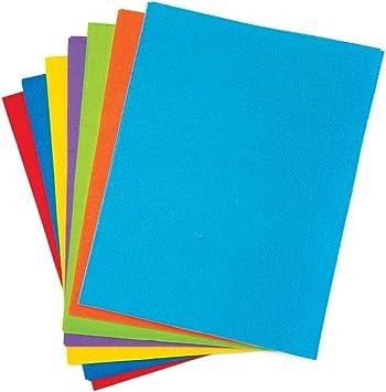 Baker Ross- Pack ahorro de láminas de fieltro en los colores del arcoíris (Pack de 15) - hojas de fieltro en colores variados perfectas para artes y manualidades: Amazon.es: Juguetes y juegos