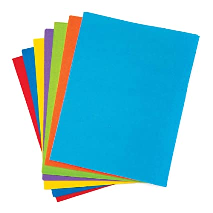 Baker Ross- Pack ahorro de láminas de fieltro en los colores ...