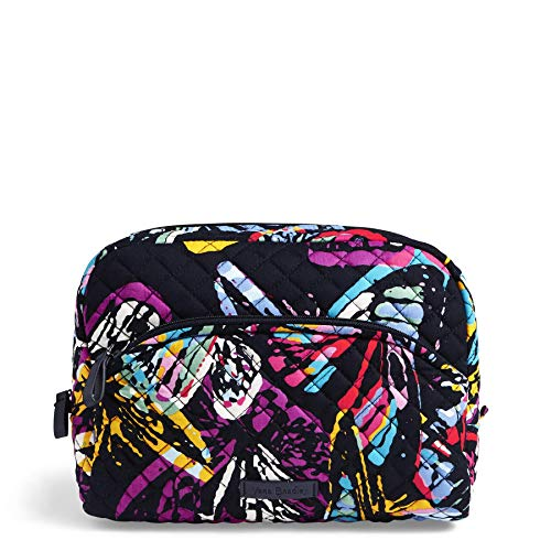Vera Bradley Iconic Large Cosmetic, Signature Cotton, Butterfly Flutt