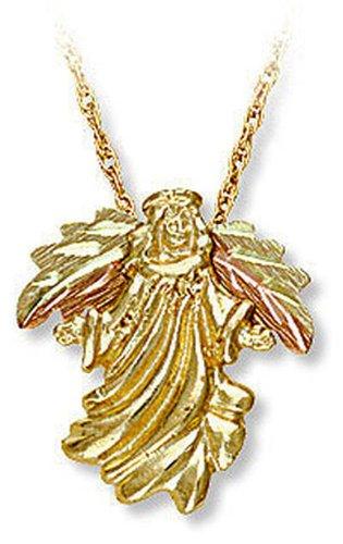 Landstroms 10k Black Hills Gold Angel Pendant Necklace, 18