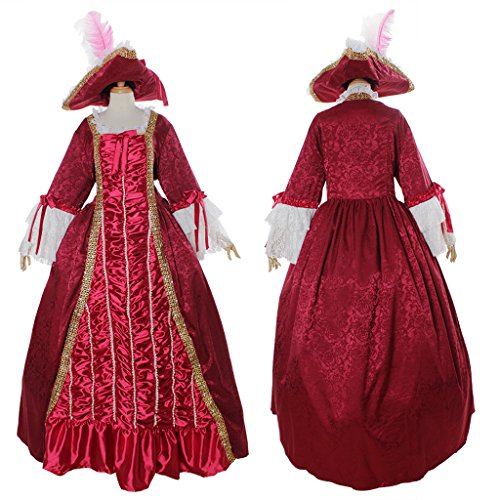 [CosplayDiy Women's Aristocrat Ball Gown Victorian Dress Costume L] (Victorian Aristocrat Costume)