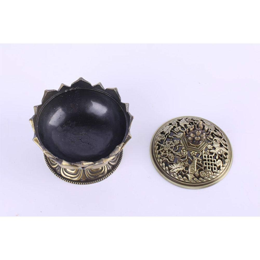Pretty Alloy Lotus Incense Burner Exquisite Censer Home Office Hotel Decoration Gift Category-C