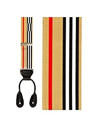 Burberry Tan Striped Suspenders