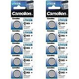 Camelion Paquete de 10 Pila de botón de litio 3 V DL2025/5003LC CR2025